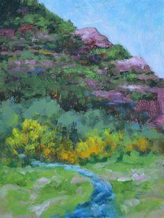 "Original Colorado Landscape Oil Painting""Redstone In Summer"" by Colorado Landscape Artist Barbara Churchley"