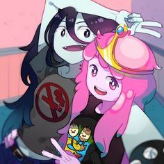 Marceline the vampire queen princess bubblegum finn the human pink cartoon vertebrate art fictional character purple Adventure Time Princesses, Adventure Time Marceline, Adventure Time Anime, Life Is Strange, Fanart, Princesse Chewing-gum, Adveture Time, Marceline And Princess Bubblegum, Land Of Ooo