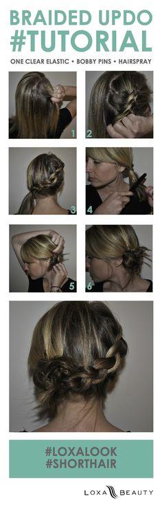 Braided updo tutorial for short hair