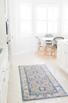 Oriental rug in the