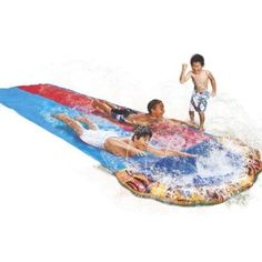 Wet and Wild Toys for Summer: Banzai Speed Blast Racing Water Slide from Target.
