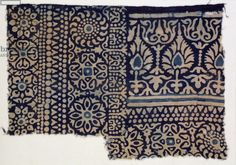 Textile fragment with rosettes, arches, stylized trees or flowers, and leaves, Egypt Motifs Textiles, Textile Patterns, Textile Prints, Textile Design, Print Patterns, Indian Prints, Indian Textiles, Impression Textile, Folk Art Flowers