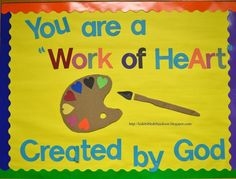 ideas for art room bulletin boards children Religious Bulletin Boards, Bible Bulletin Boards, Christian Bulletin Boards, Summer Bulletin Boards, Back To School Bulletin Boards, Preschool Bulletin Boards, Bullentin Boards, Preschool Classroom, Kindergarten