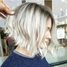 Blonde bob goals color @bescene, style @yokii.san #regram #americansalon