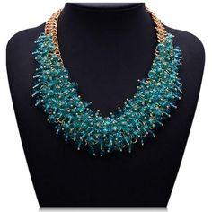 La Mia Cara Jewelry - Zita - Colorful Acryl Crystals Collar Statement Necklace