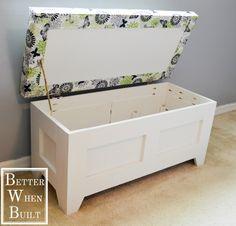 DIY Storage Bench & long storage bench plans - Google Search | DIY - Furniture ...