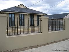 Fence Design Ideas - Photos of Fences. Browse Photos from Australian Designers & Trade Professionals, Create an Inspiration Board to save your favourite images. Home Fencing, Fences, Fence Wall Design, Fence Builders, Desert Backyard, Modular Walls, Glass Fence, Bamboo Fence, Garden Photos