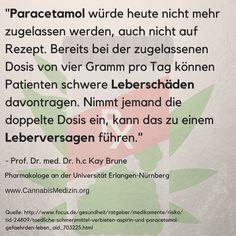 Alle 19 Minuten stirbt ein Mensch an einer Überdosis von verschreibungspflichtigen Medikamenten, dazu leiden unzählige Menschen an den Neben- und Auswirkungen von diesen.  Ein Beispiel ist Paracetamol, es ist ein schmerzstillendes und fiebersenkendes Medikament welches schon bei der zugelassen Dosis von vier Gramm am Tag zu Problemen führen kann. Eine Alternative wäre zum Beispiel Marihuana, welches auch gegen Schmerzen eingesetzt werden kann.