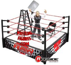 Jeff Hardy EXCLUSIVE Ladder Match Ring Playset WWE WWF by Jakks. $59.00. Out Of Production. Jeff Hardy Action Figure. Ladder. This item is very rare and out of production!