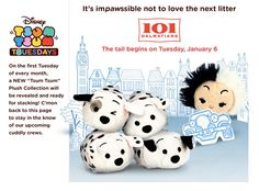 101 Dalmations Tsum Tsum>>I only have two tsums and they are from this set. I have Cruella and Patch (the winking one)