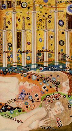 Tarot de Klimt par A. Atanassov 7 d'épées