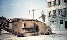A British tank from the Mark series in Péronne near Amiens