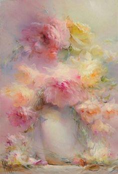 "Vladimir Babich : ""Tenderness"" in 2019 Sunflower Canvas Paintings, Dandelion Painting, Oil Painting Flowers, Painting Canvas, Floral Paintings, Encaustic Painting, Diy Canvas, Easy Paintings, Painting Abstract"