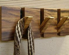 Wooden Coat Rack 6 Hooks Coat Hanger Wood Wall Art Wooden