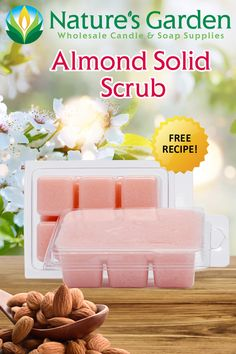 Free Almond Solid Scrub Recipe by Natures Garden