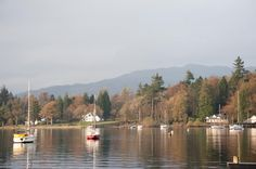 Boats moored on the tranquil waters of Lake Windermere, Cumbria in a scenic autumn landscape with reflections - free stock photo from www.freeimages.co.uk