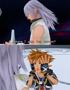 Funniest Kingdom Hearts moment ever.Sora looks so much like Haley Joel Osment in that picture! I never saw any resemblance before