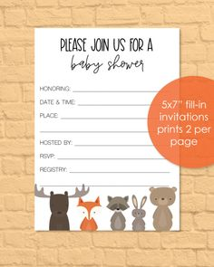 Invitations - Print It Baby