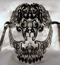Venice mask,venetian mask black,AUTHENTIC, swarovski,Skull mask,Mens masquerade