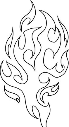 Fire Coloring Pages Printable Best Of How to Draw Tribal Flames Step by Step Tattoos Pop Skull Stencil, Skull Art, Damask Stencil, Stencil Templates, Stencils, Drawing Flames, 3d Laser Printer, Doodle Drawing, Pinstriping