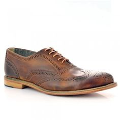 Men's Mid Brown Leather Brogues A2222