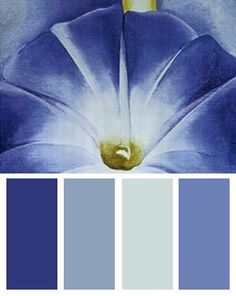 Blue Morning Glories color palette