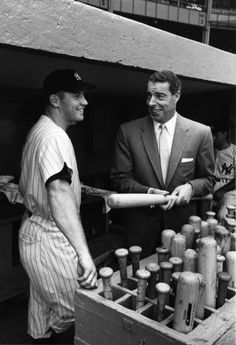 Mickey Mantle & Joe DiMaggio