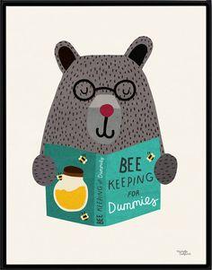 Biene-Keeping Poster von MichelleCarlslund auf Etsy