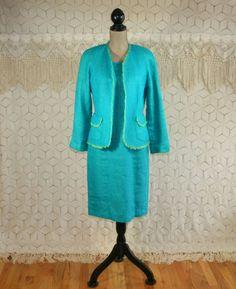 2 Piece Suit Jacket Dress Medium Linen Spring by MagpieandOtis