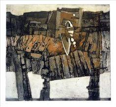 Peter Wray. Collograph