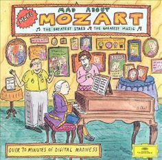1994 More Mad About Mozart [Deutsche Grammophon 445772-2] cover illustrations: Roz Chast #albumcover