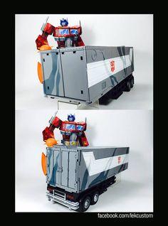 "Custom Transformers ""Devastation"" Masterpiece Optimus Prime"
