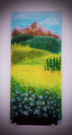 """""""Sneffels & Columbine"""" Glass Palette Painting by Diane Quarles"""