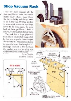Shop Vacuum Rack - Workshop Solutions Plans, Tips and Tricks | WoodArchivist.com