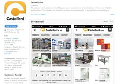 The new Castellani.it srl APP is available for free on your smarthone and tablet. Download it now! iOS devices: http://apple.co/1HRzkce