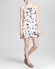 The Kooples Dress - Butterfly Print Silk Crepe de Chine | Bloomingdale's