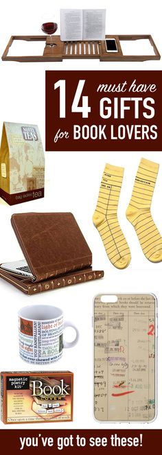 FUN, HILARIOUS GIFTS any book lover would appreciate! Seriously, these are cool!! Check them out.