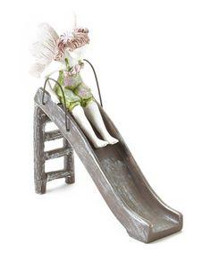 Look at this #zulilyfind! Fairy On Slide Décor by Wholesale Fairy Gardens #zulilyfinds