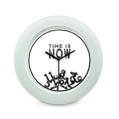 Time Is Now Motivational Quote Table Clock