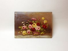Charming Small Oil Painting On Wood Panel  by ParisVintageGalerie