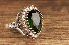 Hurrem Sultan's Famous Ring  REPLICA  EMERALD by HelenFineJewel, $43.00