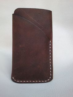 iPhone 5/5s  Handmade Brown Oil PullUp Leather Case by AllLeathers, $38.00