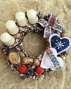 Slovenské Vianoce {Folk adventný veniec}