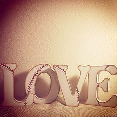 LOVE Baseball Wedding Letters-Baseball Decor-Wedding Decor