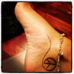 love this carry out peace where ever you go Skinny Love tattoos pictur