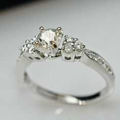 Hey, I found this really awesome Etsy listing at https://www.etsy.com/listing/177717045/unique-diamond-engagement-ring-14k-white