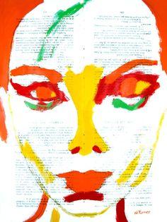 "Neal Turner; Acrylic, 2013, Painting ""Bjork"""