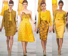 oscar de la renta spring 2013 dresses
