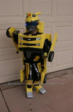 Awesome Homemade Transforming Bumblebee Transformer Halloween Costume... This website is the Pinterest of costumes