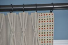 Box Pleated Valance With Banding Window Treatments